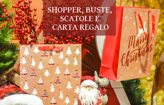 Shopper, buste e scatole regalo