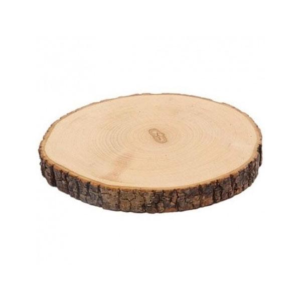 Fetta circolare di legno